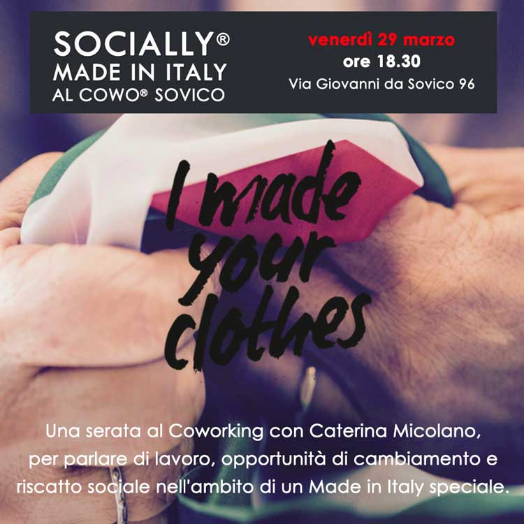 Socially Made in Italy al Coworking Sovico